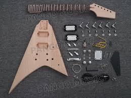 china pango factory flying v diy electric guitar kit pfv 640k china guitar electric guitar