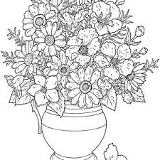 Small Picture Flower In Vase Coloring Pages Coloring Pages
