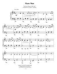 40 easy piano songs with letters: Piano Man Easy Piano Solo By Billy Joel Digital Sheet Music For Individual Part Piano Reduction Sheet Music Single Download Print H0 125521 648150 Sheet Music Plus