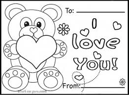 Small Picture Printable valentines day cards teddy bears coloring pages