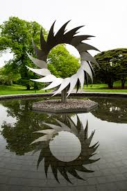 an outdoor installation by contemporary hawaiian chinese sculptor mark chai inspired by the forms of the plants that o keeffe encountered while visiting