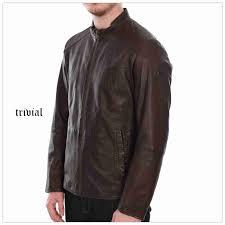 mens hugo boss coats outerwear l26703sw hugo boss dark brown orange jermon leather