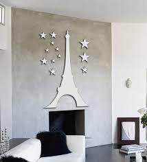 planet decor eiffel tower at night decorative acrylic wall mirror sticker