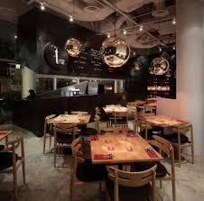 ... Fantastic Small Restaurant Interior Design Ideas For Your Inspiration :  Fancy Interior Design With Rectangular Brown ...
