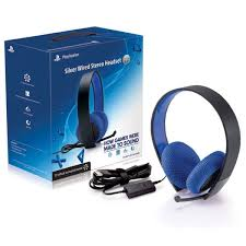 ps official sony playstation silver wired stereo headset black ps4 official sony playstation silver wired stereo headset black