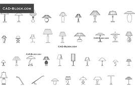 table lamps free cad file