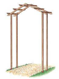 how to build a wooden arch kit garden