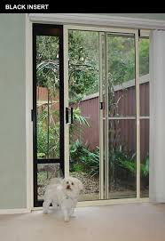 patiolink sliding door pet door panel insert flap includes locking bracket for doors up to 2 1m