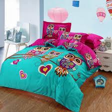 100 cotton kids boys 3d owl bedding set twin queen king size bed linen bed sheet duvet cover for 6 4 3 pcs boho gipsy