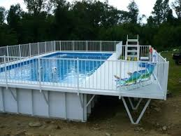 square above ground pool with deck. Plain With Square Above Ground Pool Image Of Breathtaking Aluminum  Deck With Freestanding Swimming Decks Also  Throughout E