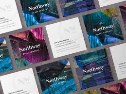 The Northway Glass Co Business Cards By Erica Katrak Dribbble