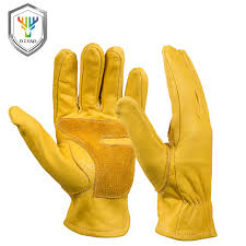 women work gloves promotion shop for promotional women work gloves new cowhide men s work driver gloves leather security protection wear safety workers welding moto warm gloves for men 0006