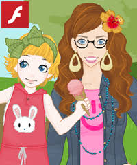 <b>Mother and Daughter Dress</b> Up Game