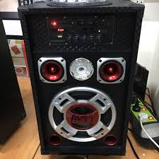 speakers with lights. display set ~~ cocoon - dj speakers with party lights