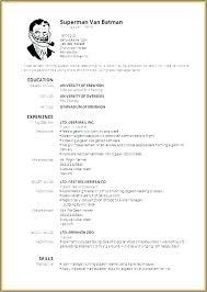 Editable Resume Template Free Ivansalgadogarcia Com