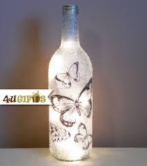 Lighted Wine Bottle, Butterfly Design, Butterflies, Night Lights, Gift  Exchange, Gift