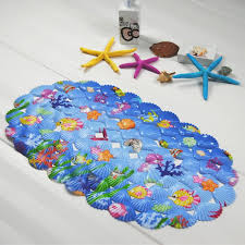 accessories for kid bathroom decoration using oval colorful sea world kid bathroom rugs