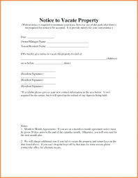 Rent Notice Letter Landlord Notice To Vacate Letter Rental Property Sample From