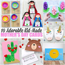 10 Adorable Mothers Day Card Ideas Kids Can Make I Heart Crafty