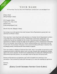 Cover Letter Template For Customer Service Representative Sample