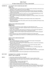 Production Supervisor 3rd Shift Resume Samples Velvet Jobs