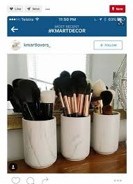 kitchen storage canisters use as makeup brush holders