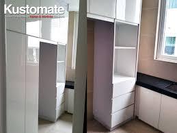 pure white melamine kitchen cabinet design residential house 05
