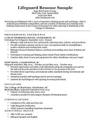 Lifeguard Resume Sample Writing Tips Resume Companion