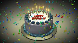 Happy Birthday Cake 3d Animation 5 Happy Birthday World