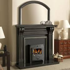 dublin 60 inch corbel black granite fireplace surround from