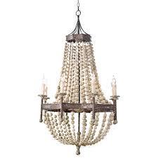 eclectic lighting. Maroma Coastal Beach Scalloped Wood Bead Metal Chandelier Eclectic Lighting G