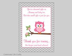 Baby Shower Gift Card Thank You Card Samples Printable Owl Baby Owl Baby Shower Thank You Cards