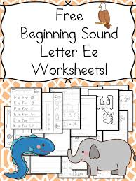 Beginning Sounds Letter E Worksheets   Worksheets, Kindergarten ...
