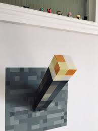 Minecraft Light Up Torch Uk Minecraft Torch Wall Lantern Minecraft Bedroom Decor