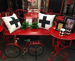 charming ideas hobby lobby outdoor furniture red bench vignette