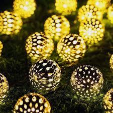 Lichterkette 2 Meter20 Led Deko Ornament Kugel Marokko Ball Warmweiß Für Weihnachten Party Deko Schmuck Fensterdeko Schaufenster Girlande Dekoration