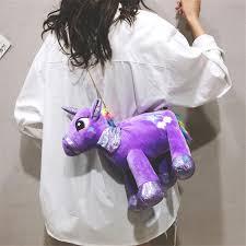 <b>4 Colors</b> Ins Cute <b>Unicorn</b> Fur Women Sling Bag Kids Toys | Shopee ...