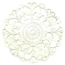 white wooden wall art medallion round