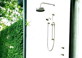 copper outdoor shower icarusnzcom outdoor shower fixtures outdoor shower fixtures delta