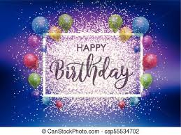 Birthday Background Happy Birthday Background With Balloons And Glitter