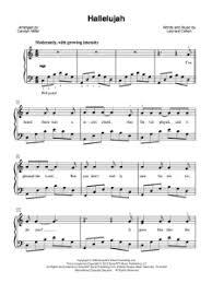 hallelujah piano sheet music hallelujah cohen sheet music lyrics and video the songs we sing
