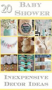 here are a ton of diy decorating ideas for a baby shower that are easy to make dollar baby shower centerpieces you can make yourself and