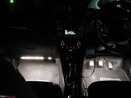 d i y install led footwell lighting 17 both leds glowing