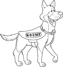 Small Picture Police dog coloring pages german shepherd ColoringStar