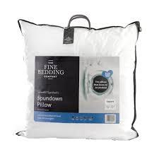 fine bedding company spundown square pillow
