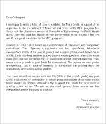 Letter of Re mendation for High School Student