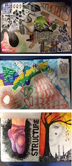 hhs students work le pages sketchbook ideasgcse art