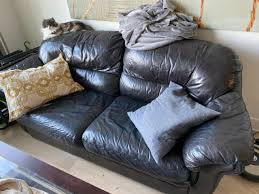 extremely fortable leather couch