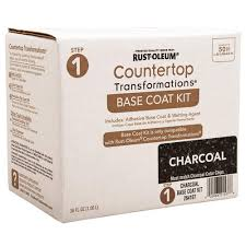 rust oleum countertop transformations charcoal adhesive base coat kit at menards