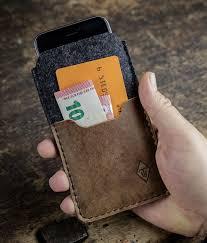iPhone 12 Pro Max mini 11 SE XR 8 Filzhülle + Vintage-Leder | werktat® -  Leder & Filz Taschen Hüllen Filzuntersetzer Filzzuschnitt Sitzauflagen  Tischsets